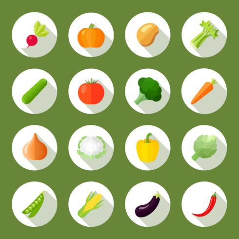 Groenten Icons Flat Set vector