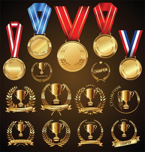 gouden medaille vector