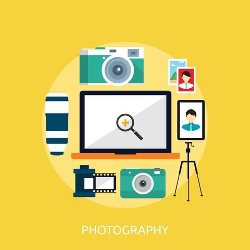Fotografie Conceptuele afbeelding ontwerp vector