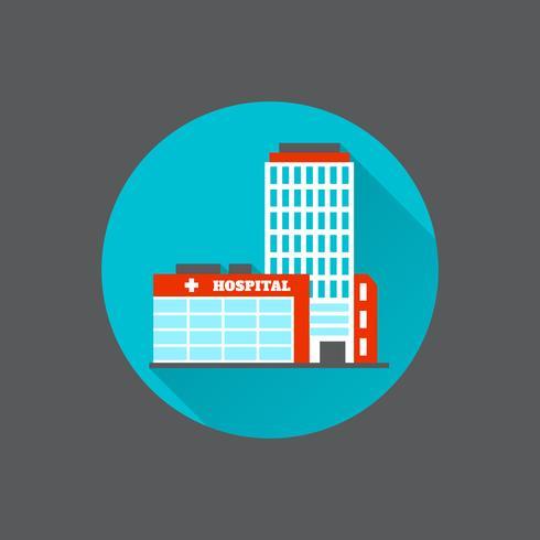 Medisch flatgebouw vector