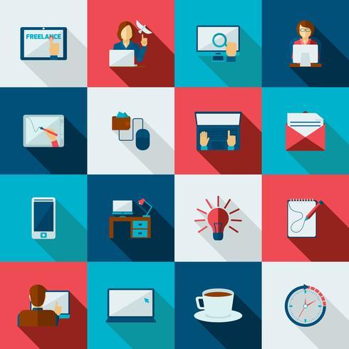 freelance pictogram plat vector