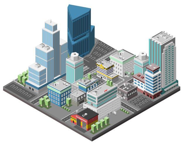 stads centrum concept vector