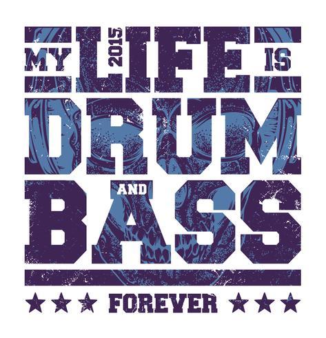 Drum & Bass-typografie vector