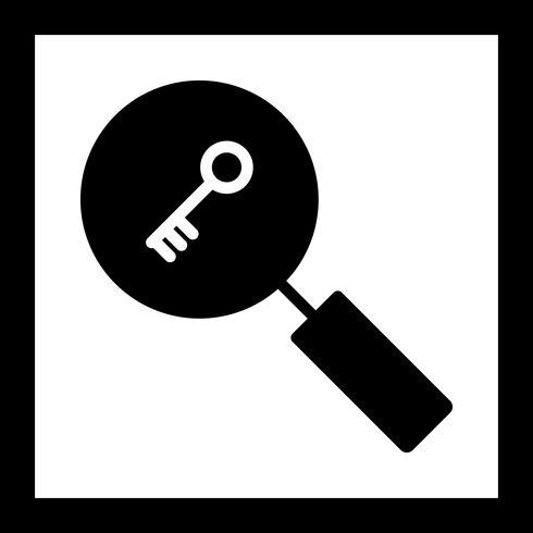 Vector pictogram voor zoekwoord