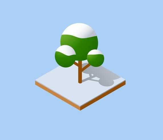 Winter kerstboom vector