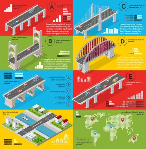 Infographics van bruggen vector