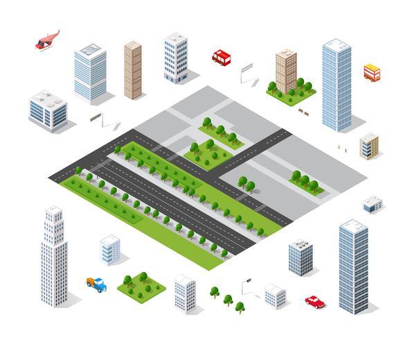 Stedelijk gebied van de stad vector
