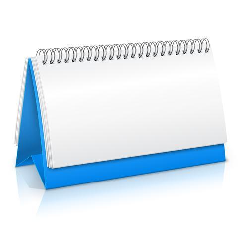 Papieren kalendermodel vector