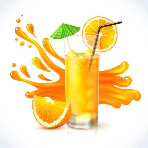 Jus d'orange ijs vector