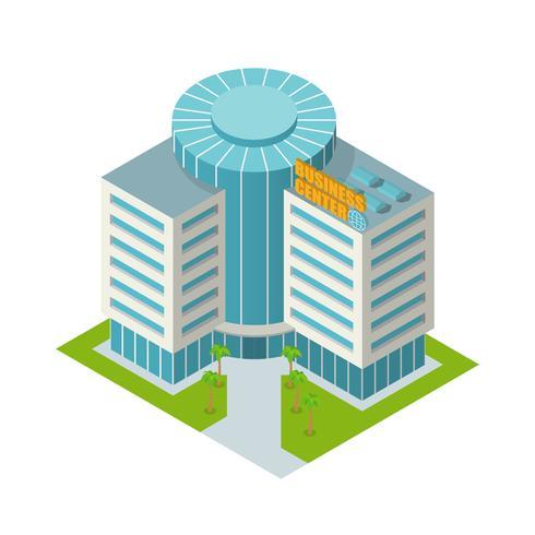 Business center isometrisch gebouw vector