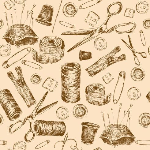 Naadloos patroon naaien vector