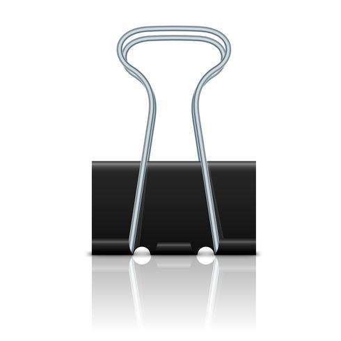 Binder clip geïsoleerd vector
