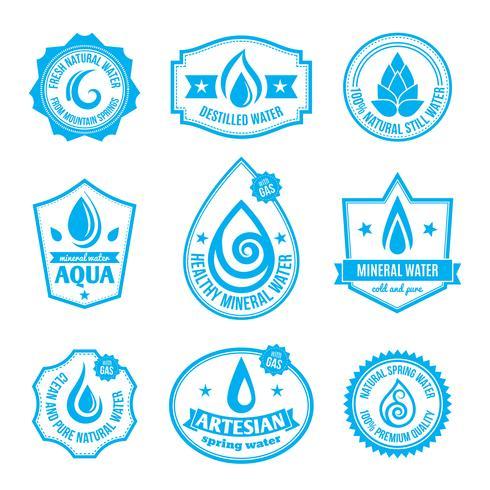 water label vector