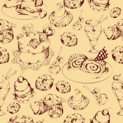 Snoepjes schets naadloze patroon vector