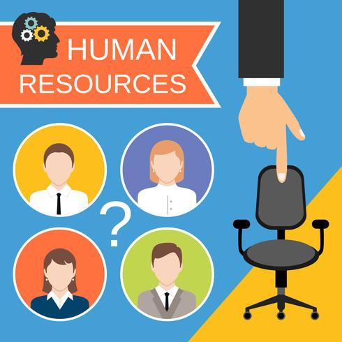 menselijke hulpbronnen concept vector