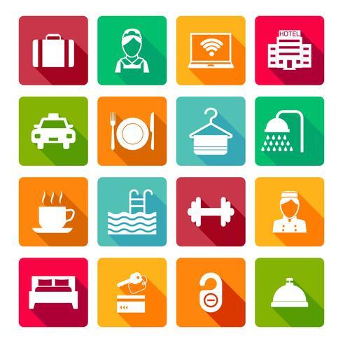 Set van hotel pictogrammen vector