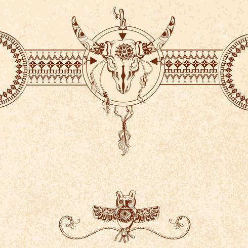 Tribal schets achtergrond vector