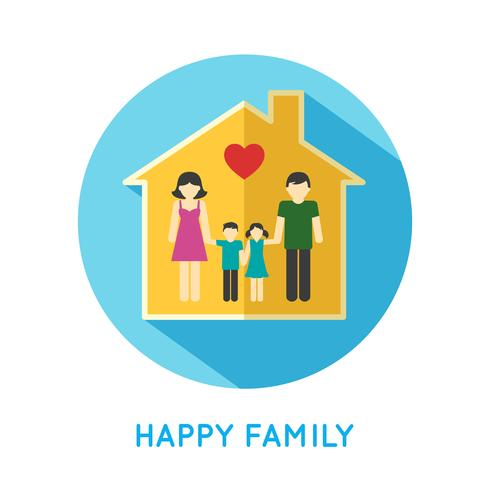 Familie pictogram thuis vector