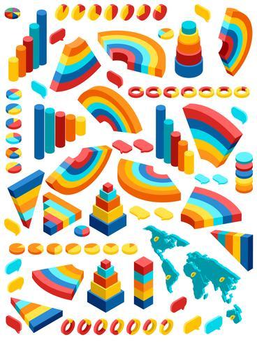 Isometrische infographic set vector