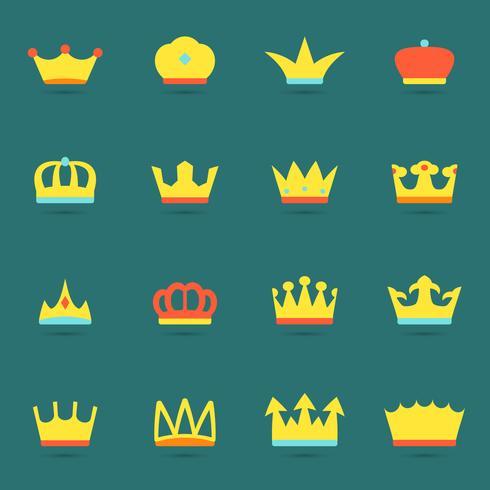 Kroon pictogramserie vector