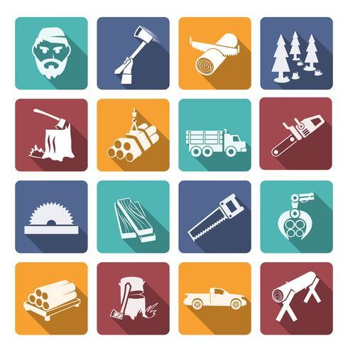Houthakker houthakker pictogrammen vector