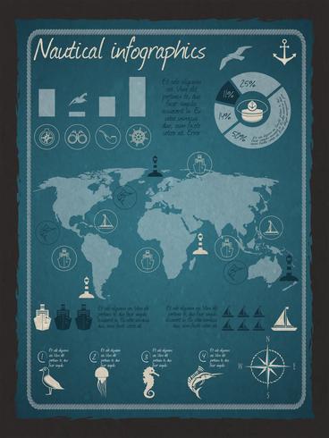 Nautische infographic set vector