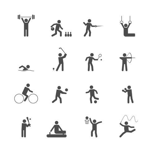 Sport pictogrammen instellen vector