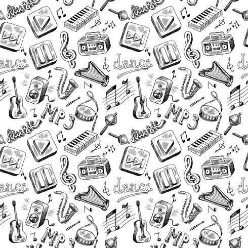 muziek naadloos vector