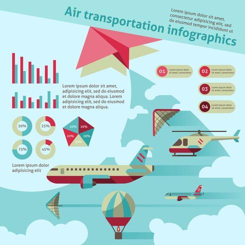 Luchttransport infographic vector