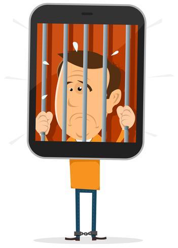 Mobiele telefoon Gevangene vector