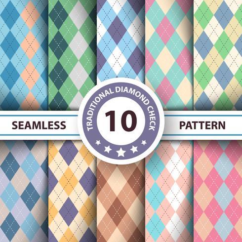 Naadloos argyle geruite blauw patroon. Diamond check - idee voor uw print. vector