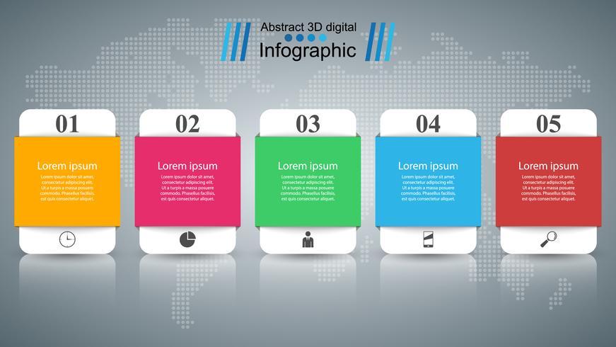Zakelijke Infographics origami stijl vectorillustratie. vector