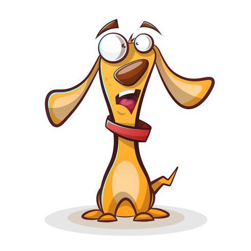 Grappige, schattige hond cartoon. vector