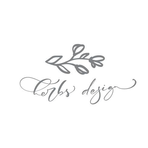 Kruiden ontwerp hand getrokken Eenvoudige floral pictogram vector van aard hlorist logo.