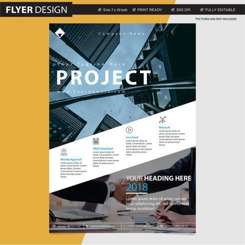 Vlieger of brochure professioneel vectorontwerp, abstracte de catalogusillustratie van de tijdschriftdekking vector