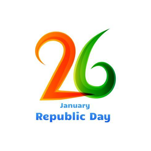 26e republiek dag viering ontwerp vector