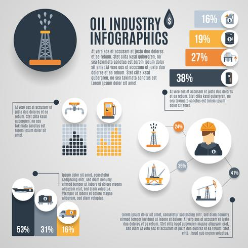 Olie-industrie Infographic vector