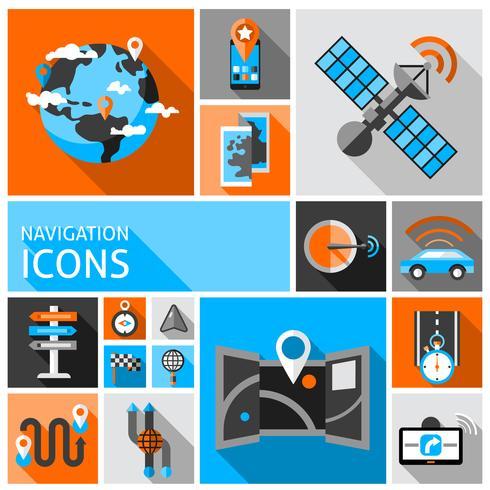 Navigatie Icons Set vector