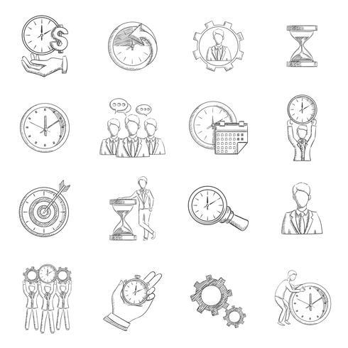 time management schets vector