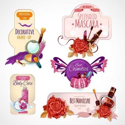 Cosmetica Label Set vector