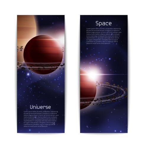 ruimte banners verticaal vector