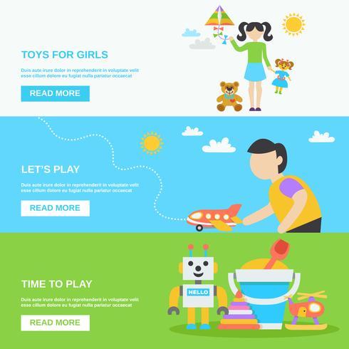 Speelgoedbannerset vector