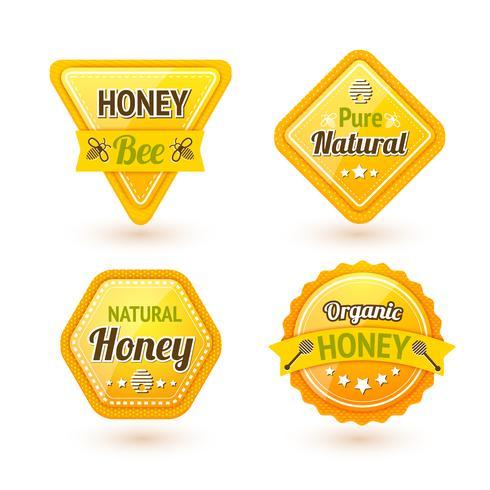 Honey-labels instellen vector