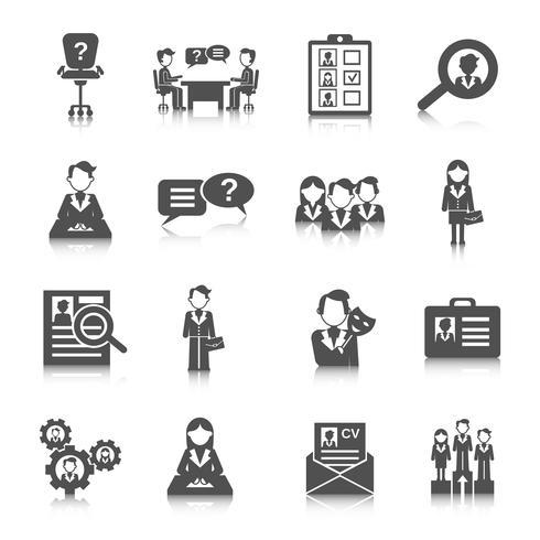 Menselijke hulpbronnen pictogram vector