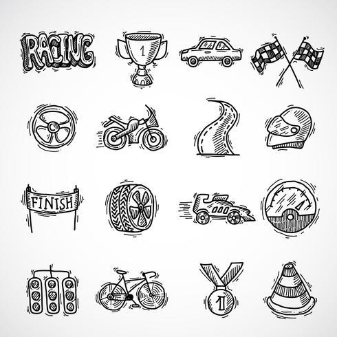 race pictogramserie vector