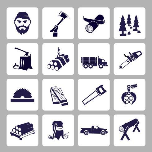 Houthakker pictogramserie vector