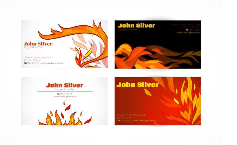 Vuur voor visitekaartjes vector