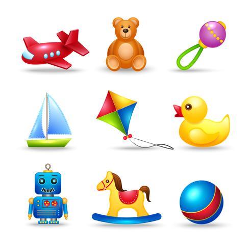 Baby speelgoed pictogrammen instellen vector
