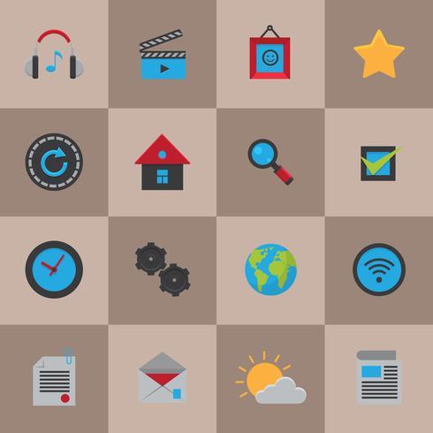 Mobiele sociale media-iconen vector