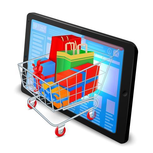 Internet winkelen concept vector